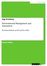 Titel: Environmental Management and Assessment