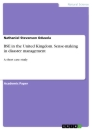 Titel: BSE in the United Kingdom. Sense-making in disaster management