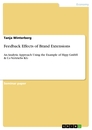 Titel: Feedback Effects of Brand Extensions