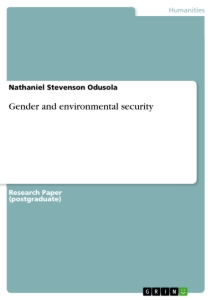 Titel: Gender and environmental security