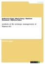 Titel: Analysis of the strategic management of Manner AG