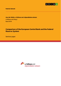 Titel: Comparison of the European Central Bank and the Federal Reserve System