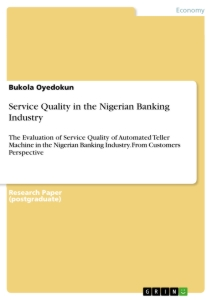 Titel: Service Quality in the Nigerian Banking Industry