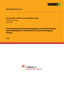 Titel: Food Security and Food Sovereignty in the Global South. Key Problematics in the Pursuit of Food Sovereignty Visions
