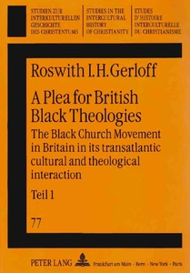 Title: A Plea for British Black Theologies