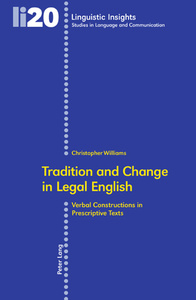 Title: Tradition and Change in Legal English