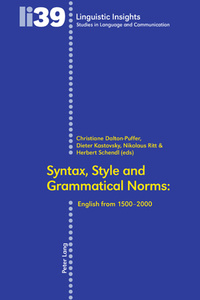 Title: Syntax, Style and Grammatical Norms