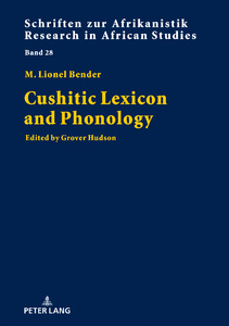 Title: Cushitic Lexicon and Phonology