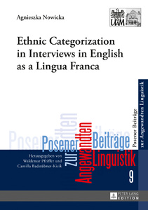 Title: Ethnic Categorization in Interviews in English as a Lingua Franca