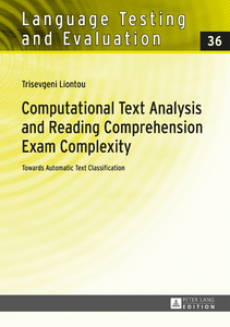 Title: Computational Text Analysis and Reading Comprehension Exam Complexity