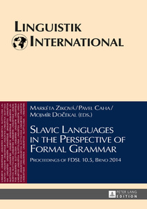 Title: Slavic Languages in the Perspective of Formal Grammar