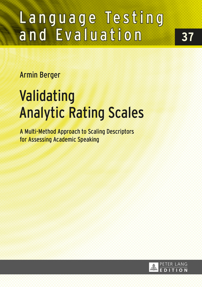 Title: Validating Analytic Rating Scales