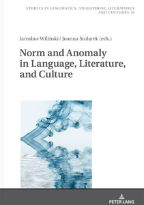 Title: Norm and Anomaly in Language, Literature, and Culture