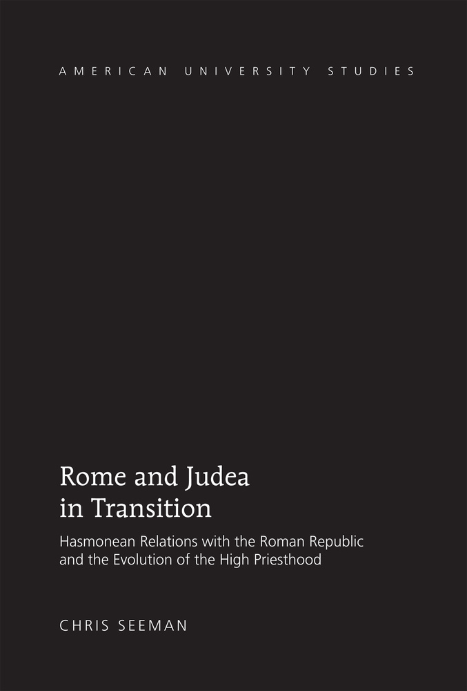 Title: Rome and Judea in Transition
