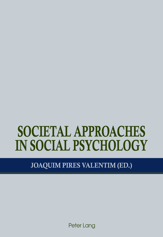 Title: Societal Approaches in Social Psychology