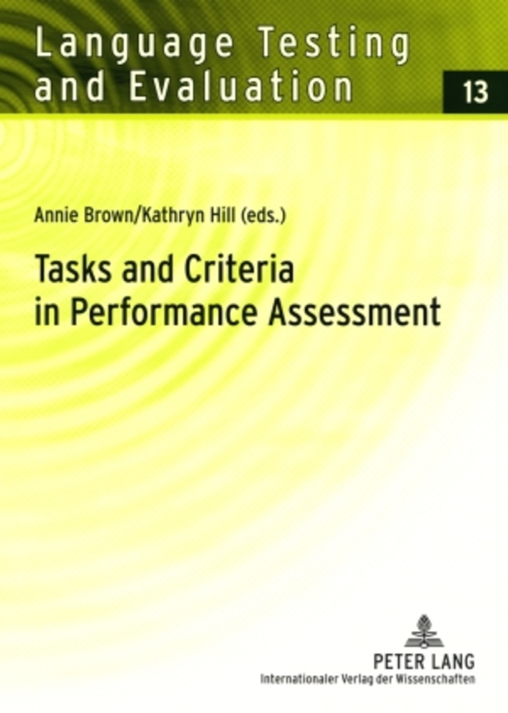 Title: Tasks and Criteria in Performance Assessment