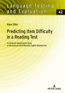 Title: Predicting Item Difficulty in a Reading Test