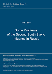Title: Some Problems of the Second South Slavic Influence in Russia