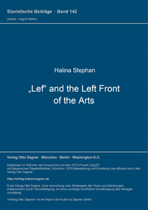 Title: Lef and the Left Front of the Arts