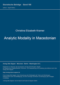Title: Analytic Modality in Macedonian