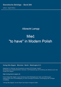 """Title: Mieć, """"to have"""" in Modern Polish"""