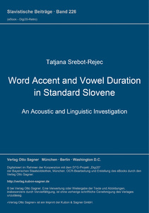 Title: Word Accent and Vowel Duration in Standard Slovene