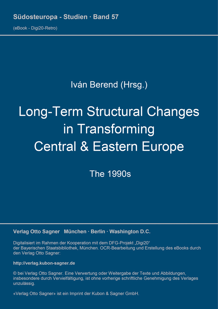 Titel: Long-Term Structural Changes in Transforming Central & Eastern Europe (The 1990s)