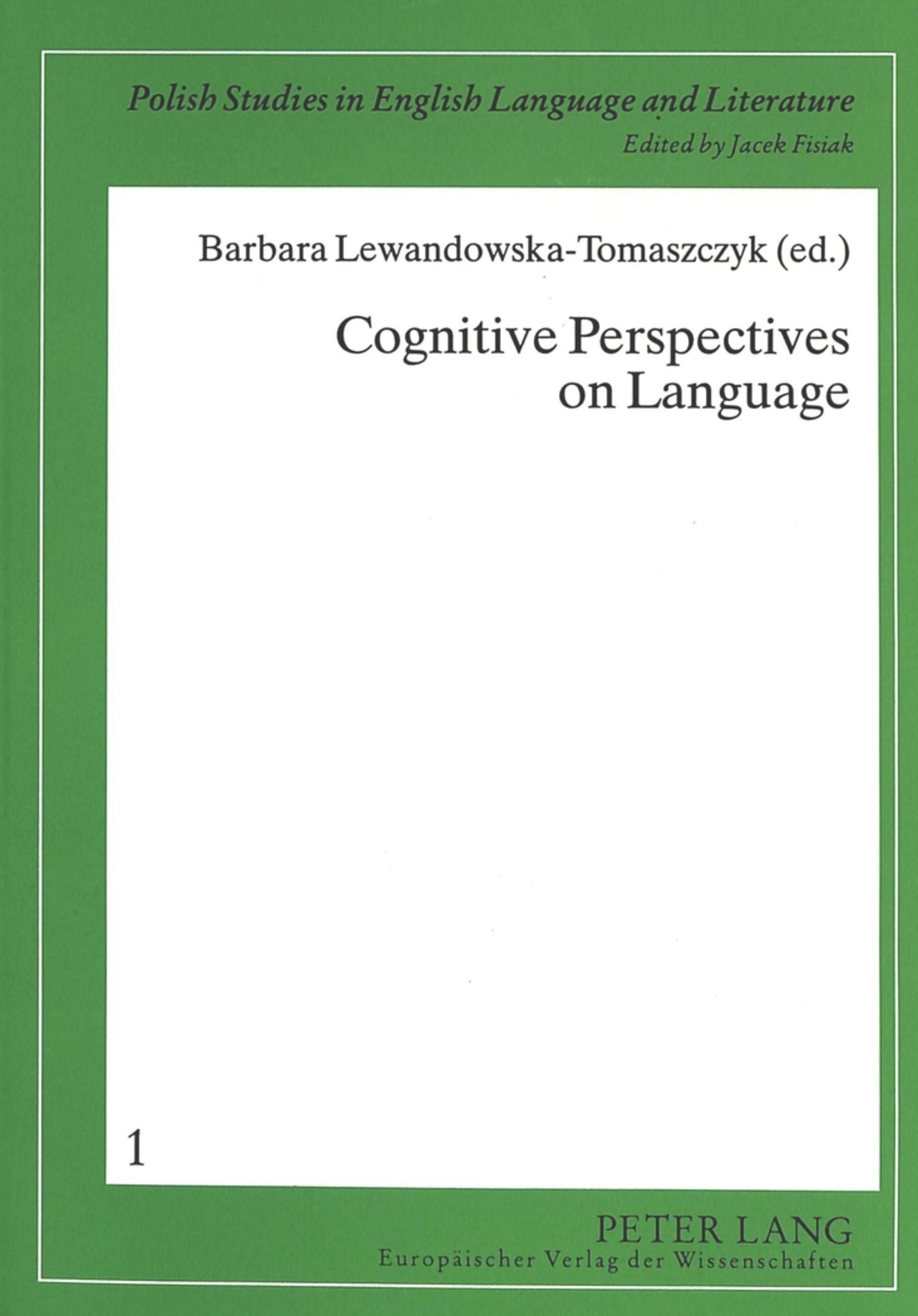 Title: Cognitive Perspectives on Language