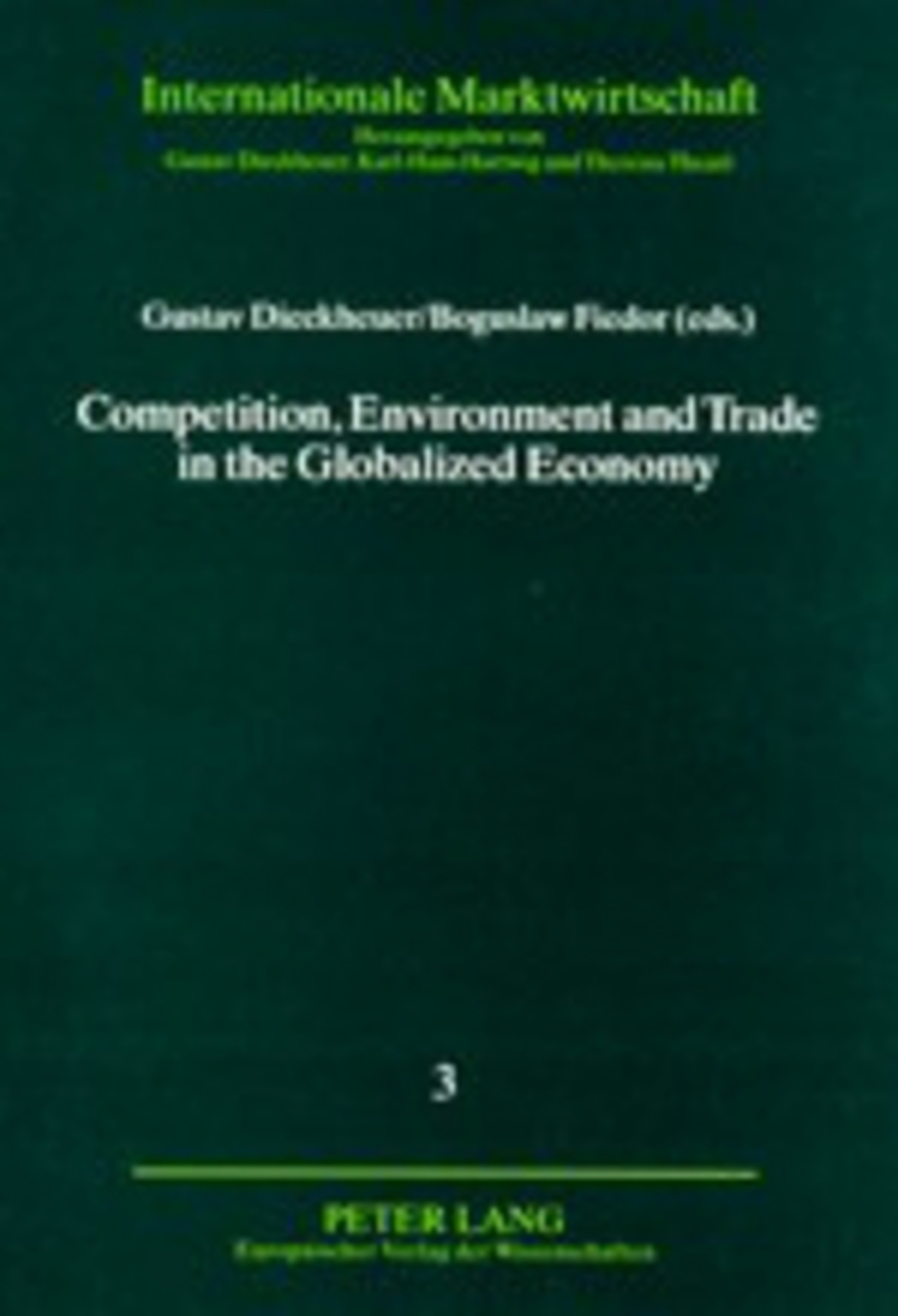 Title: Competition, Environment and Trade in the Globalized Economy