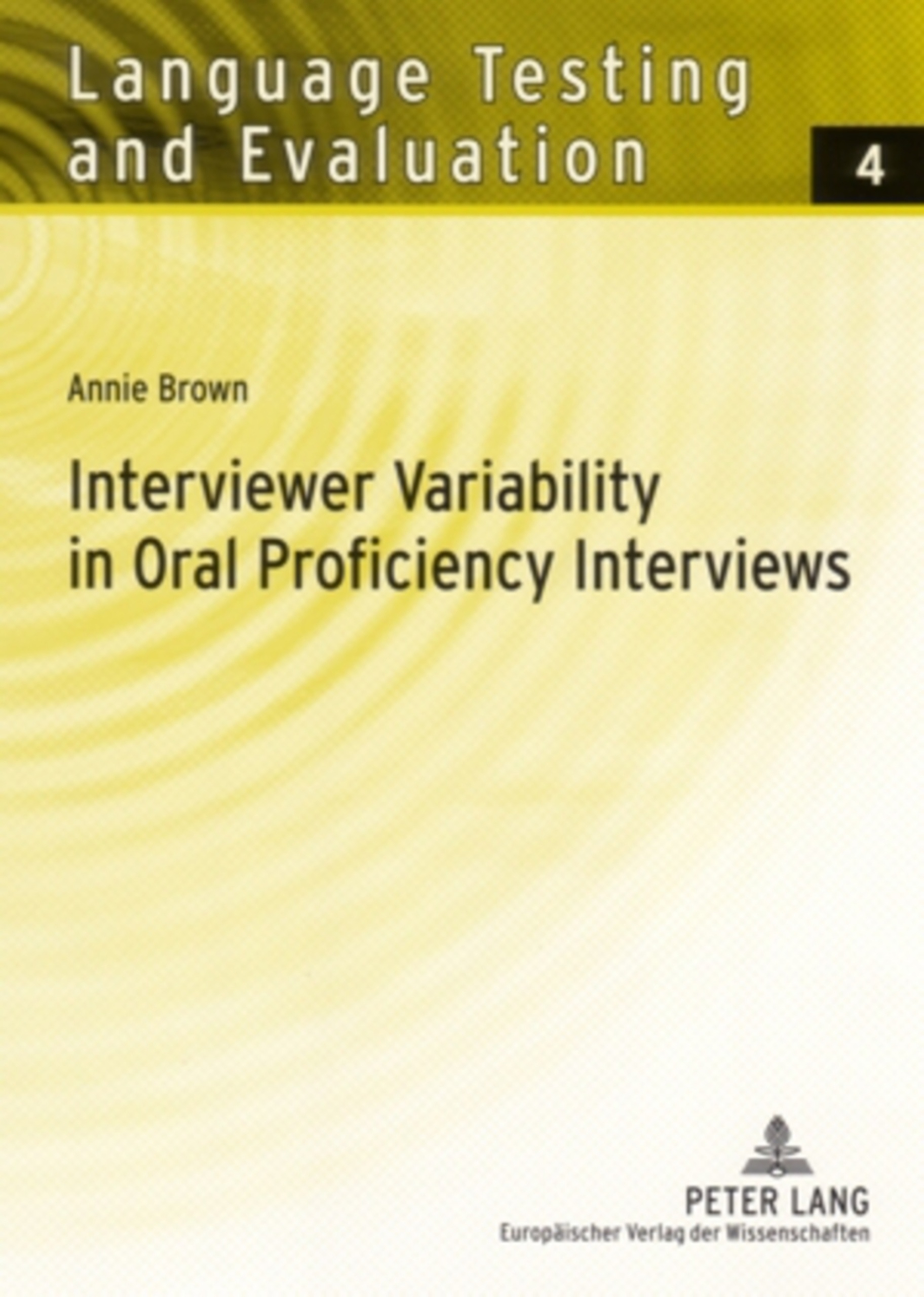 Title: Interviewer Variability in Oral Proficiency Interviews