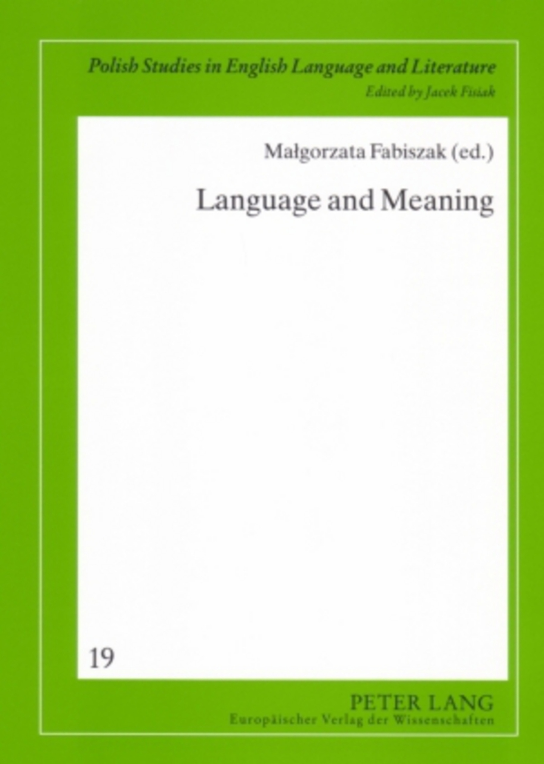 Title: Language and Meaning