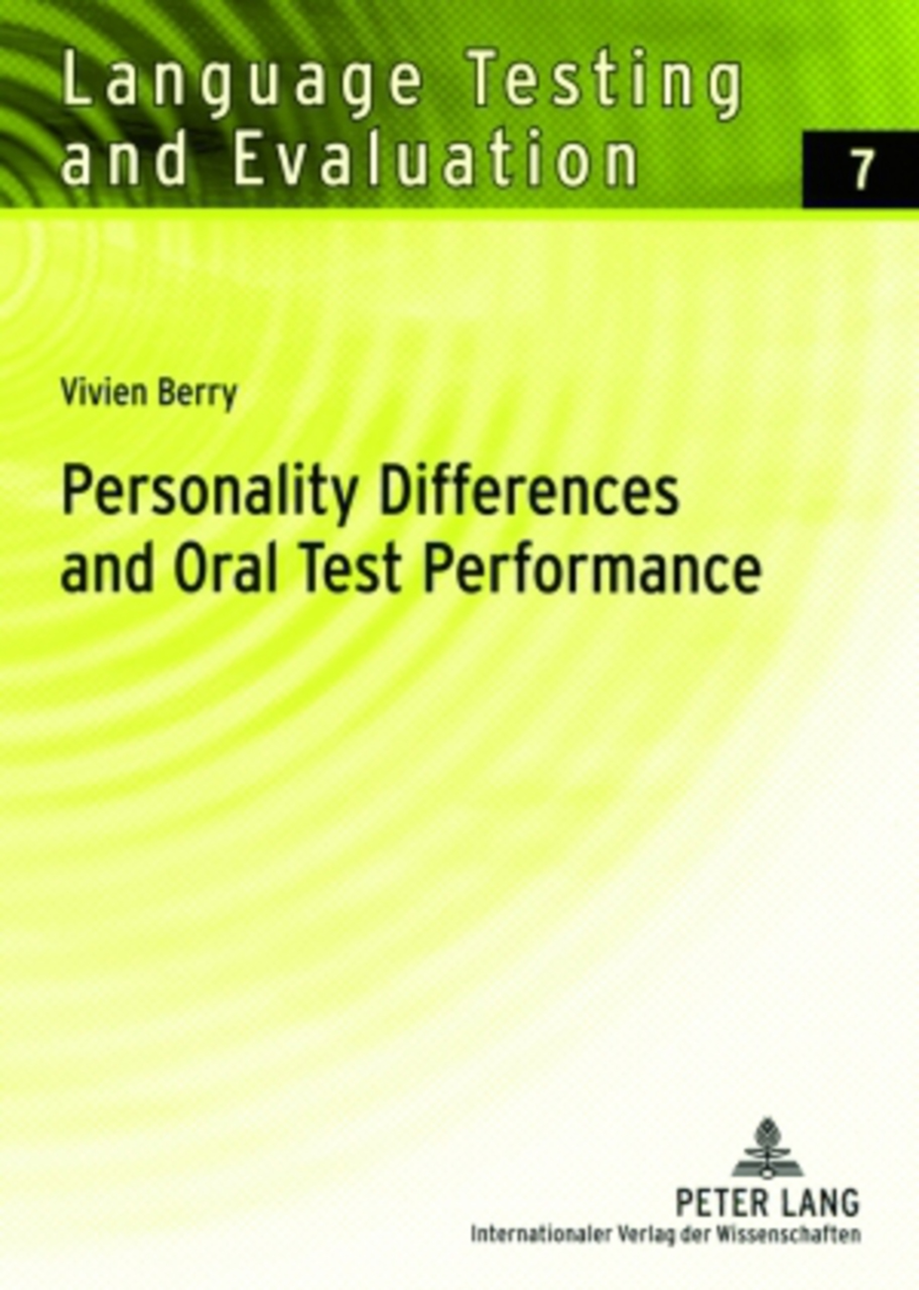Title: Personality Differences and Oral Test Performance