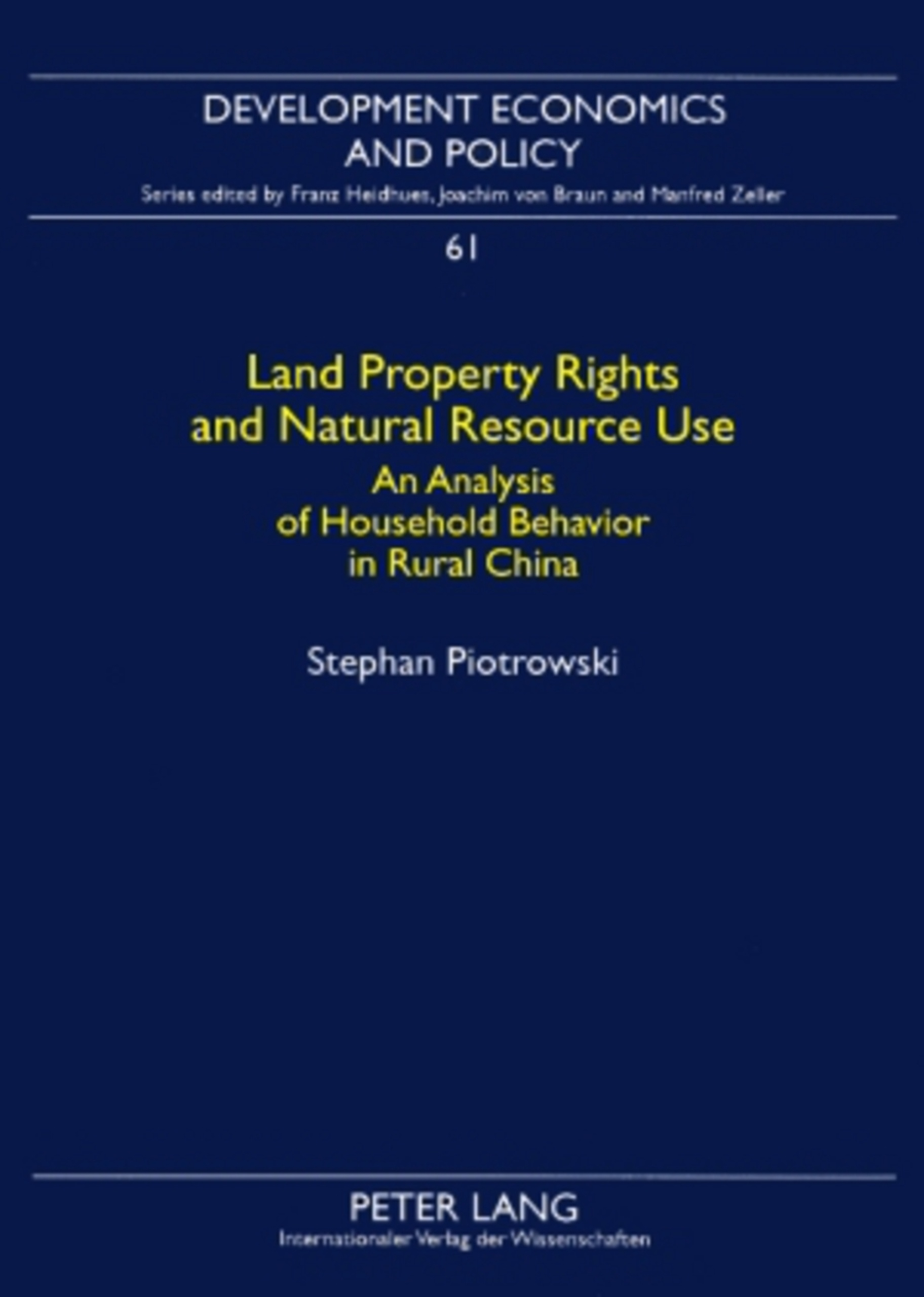 Title: Land Property Rights and Natural Resource Use