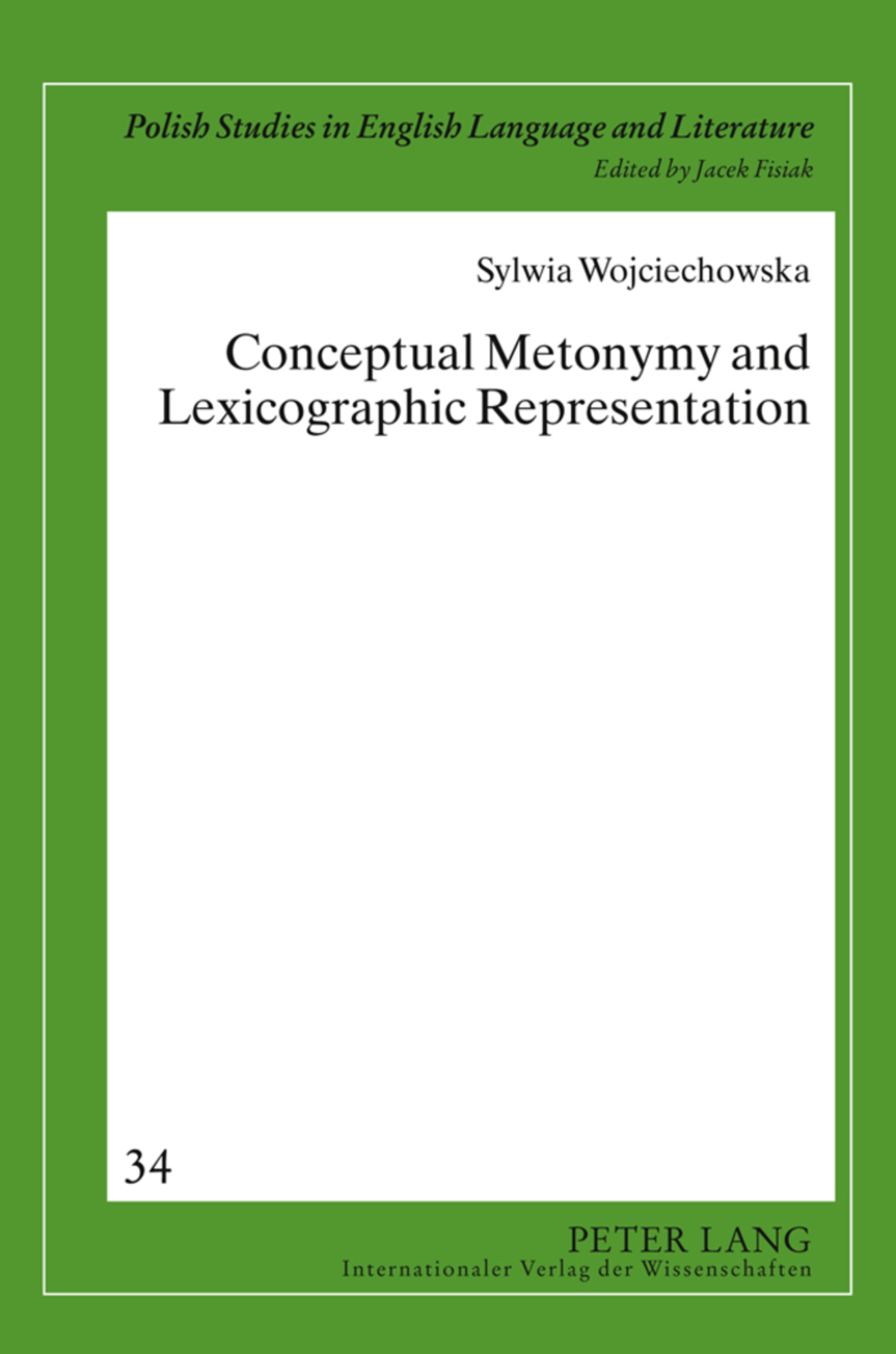 Title: Conceptual Metonymy and Lexicographic Representation