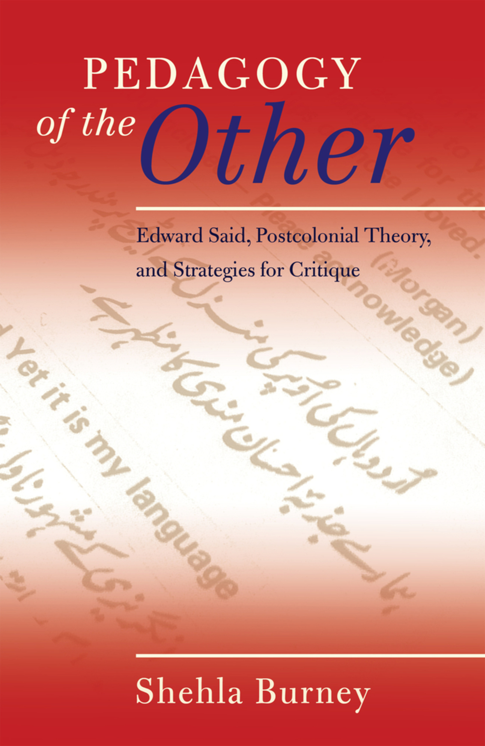 Title: Pedagogy of the Other