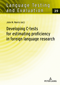 Title: Developing C-tests for estimating proficiency in foreign language research