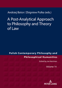Title: A Post-Analytical Approach to Philosophy and Theory of Law