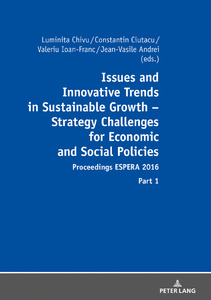 Title: Issues and Innovative Trends in Sustainable Growth – Strategy Challenges for Economic and Social Policies