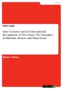 Titel: State Creation and the International Recognition of New States. The Examples of Palestine, Kosovo and Timor-Leste