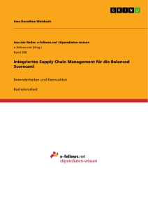 Titel: Integriertes Supply Chain Management für die Balanced Scorecard