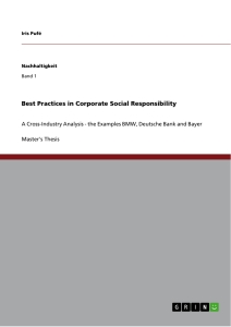 Titel: Best Practices in Corporate Social Responsibility