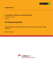 Titel: All Things Being Equal?