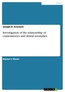 Titel: Investigation of the relationship of craniometrics and dental anomalies