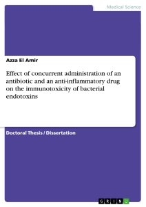 Titel: Effect of concurrent administration of an antibiotic and an anti-inflammatory drug on the immunotoxicity of bacterial endotoxins