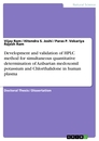 Titel: Development and validation of HPLC method for simultaneous quantitative determination of Azilsartan medoxomil potassium and Chlorthalidone in human plasma