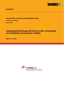 Titel: Combining Wind Energy with Power-to-Gas. A Case Study on Profitability and Economic Viability