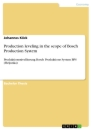 Titel: Production leveling in the scope of Bosch Production System