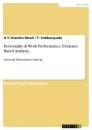 Titel: Personality & Work Performance. Evidence Based Analysis