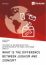 Titel: What is the difference between Judaism and Zionism? The impact of religion on political decision-making in the Israeli-Palestinian conflict