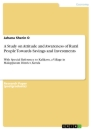 Titel: A Study on Attitude and Awareness of Rural People Towards Savings and Investments